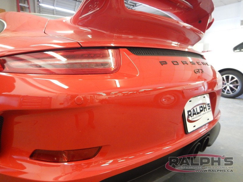 Parking Assist System Installed on Porsche GT3