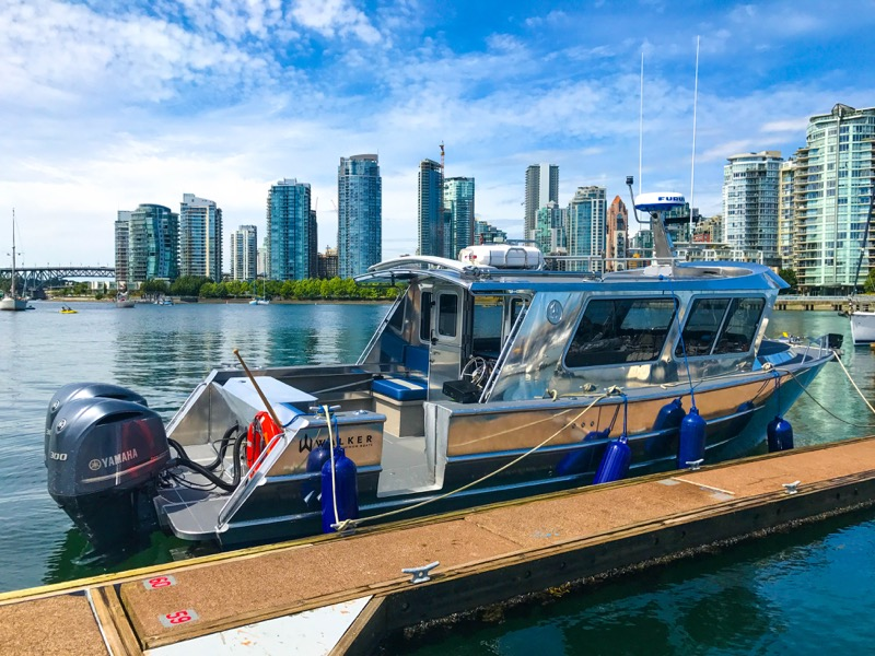 Walker Custom Aluminum Boat Audio System for Vancouver Client