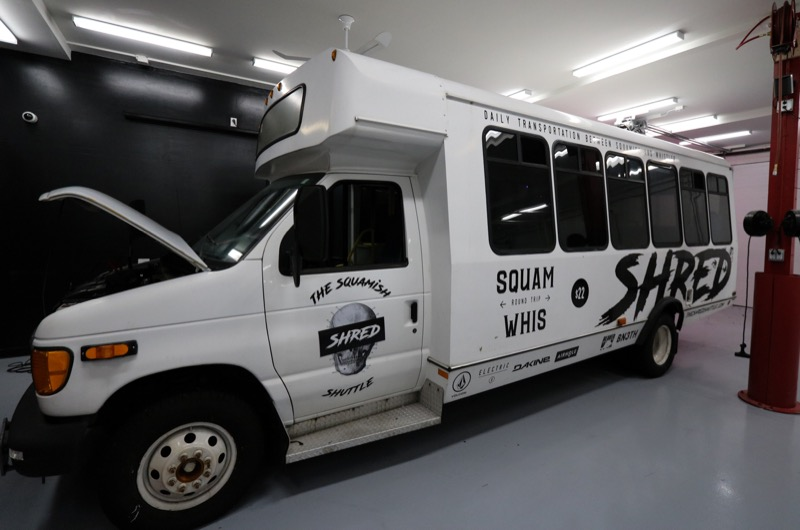 Bus Audio System Upgrade for Squamish-based Shred Shuttle