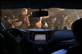 A movie in a car